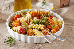 Italian colored pasta Stock Image