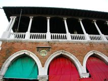 Italian colors Venice arches Italy royalty free stock photography