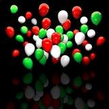 Italian colours balloon Stock Photography