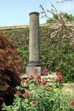 Italian column or pillar at Hever castle garden in England Royalty Free Stock Photos