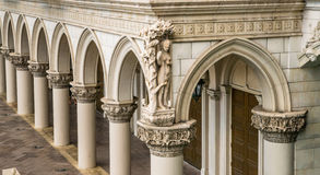 Italian columns and arches. Italian architecture columns and arches Stock Image