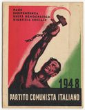 Italian Communist Party card, PCI, vintage 1948, historical document Royalty Free Stock Images