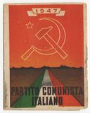 Italian Communist Party card, PCI, vintage 1947, historical document Royalty Free Stock Photos