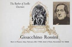 Italian composer Gioachino Rossini royalty free stock photography