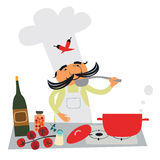 Italian cook character Royalty Free Stock Photo