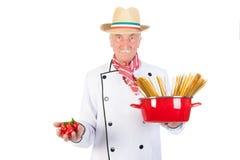 Italian cook Stock Image