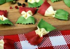 Italian cookery, pasta Farfalle Royalty Free Stock Images
