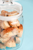 Italian cookies - biscotti Stock Photo