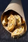 Italian cookies - biscotti in a paper bag Stock Photos