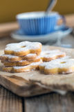 Italian cookies canestrelli. Stock Photography