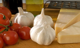 Italian cooking ingredients Stock Photography