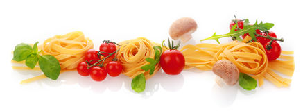 Italian cooking and ingredients horizontal banner Royalty Free Stock Photography