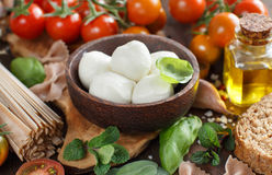 Italian cooking ingridients Royalty Free Stock Photo
