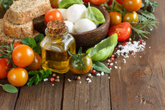 Italian cooking ingridients Stock Images