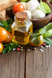 Italian cooking ingridients Royalty Free Stock Photography
