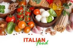 Italian cooking ingridients Stock Photos