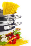 Italian cooking / pasta Stock Images