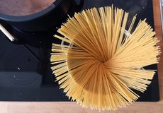Italian Cooking - Spaghetti in a pod Stock Photography