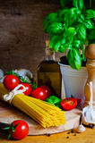 Italian cooking still life Stock Photos