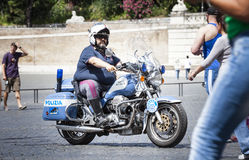 Italian cop policeman on motorcycles. Rome, Italy Stock Images
