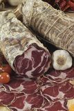Italian coppa di Parma salami. On cutting board Royalty Free Stock Image