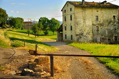 Italian countryside. A beautiful view of the Italian countryside with old buildings having traditional Italian architecture stock photography