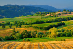 Italian countryside. Beautiful summer landscape of Parma countryside, Italy royalty free stock photos
