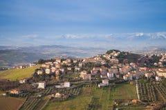 Italian countryside landscape. Fermo, Italy Royalty Free Stock Photos
