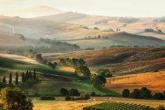 Italian countryside in Tuscany Stock Photos