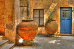Italian courtyard Royalty Free Stock Photo