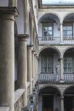 Italian courtyard, Lviv stock photo