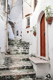 Italian courtyard in Sperlonga, , Italy Stock Photography