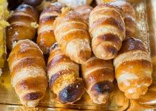 Italian cream horn pastries Stock Photo