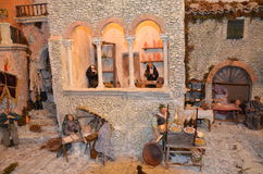 Italian crib called presepe napoletano Royalty Free Stock Images