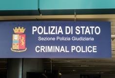 Italian Criminal Police Stock Photo