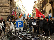 Italian crisis  union manifestation Royalty Free Stock Image