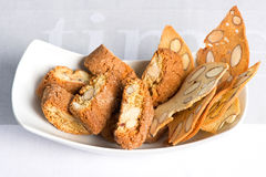 Italian crisp almond cookies cantuccini Royalty Free Stock Photo