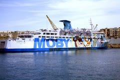 Italian cruise liner, Valletta, Malta. Stock Photo