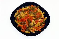 Italian cuisine. Italian speciality is macaroni or spaghetti equipped by many health comestible Stock Photos