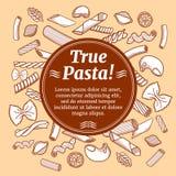 Italian cuisine food, restaurant flyer vector template Stock Images
