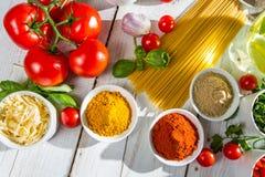 Italian cuisine from the kitchen Stock Photo