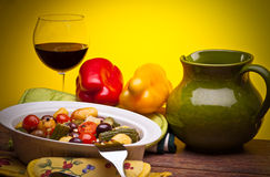 Italian Cuisine - Mix Of Stewed Vegetables royalty free stock photo