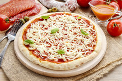 Italian cuisine: pizza margherita Royalty Free Stock Images