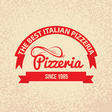 Italian cuisine Retro Vintage Label Royalty Free Stock Photos