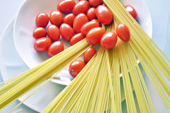 Italian cuisine, spaghetti with tomato. Royalty Free Stock Photo