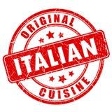 Italian cuisine vector stamp Stock Photo