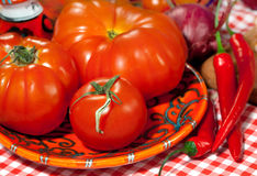 Italian cuisine - vegetables Stock Photos