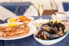 Italian cuisine. Zuppa di cozzi Royalty Free Stock Image