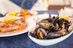 Italian cuisine. Zuppa di cozzi Royalty Free Stock Photos