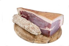Italian cured ham royalty free stock photography